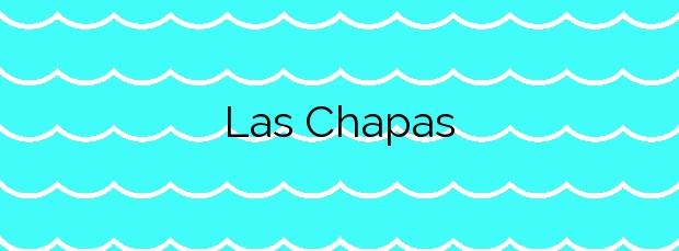 Información de la Playa Las Chapas en Mazarrón