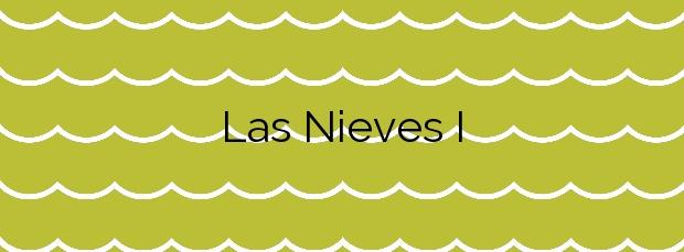 Información de la Playa Las Nieves I en Agaete