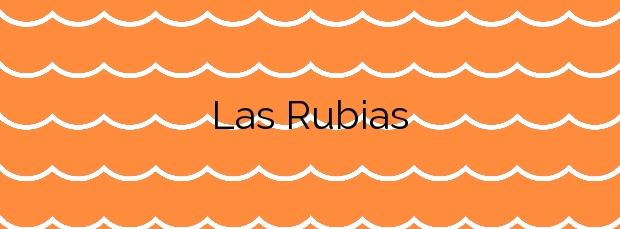 Información de la Playa Las Rubias en Cudillero