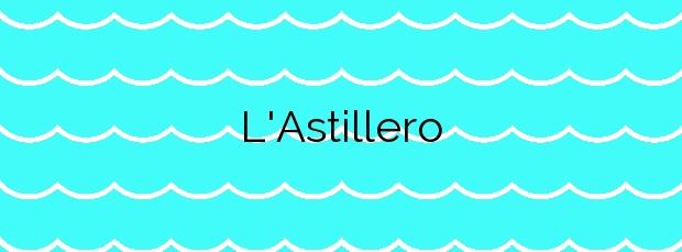 Información de la Playa L'Astillero en Vilassar de Mar