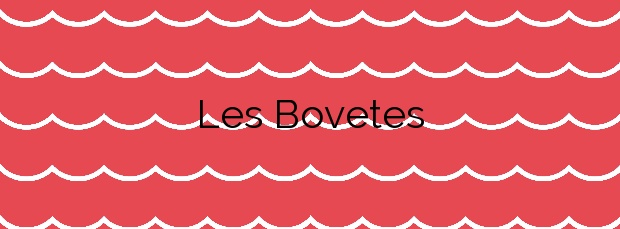 Información de la Playa Les Bovetes en Dénia
