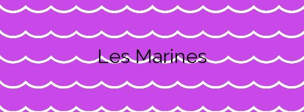 Información de la Playa Les Marines en Dénia