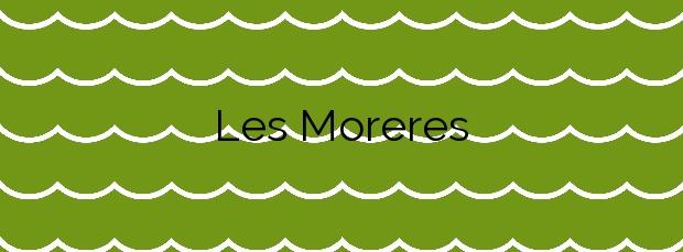 Información de la Playa Les Moreres en Montgat