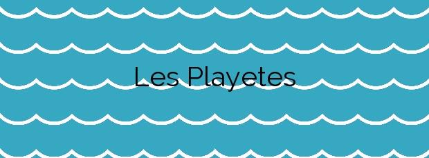 Información de la Playa Les Playetes en Teulada