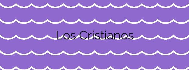 Información de la Playa Los Cristianos en Arona