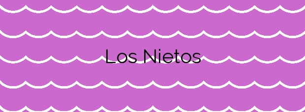 Información de la Playa Los Nietos en Cartagena