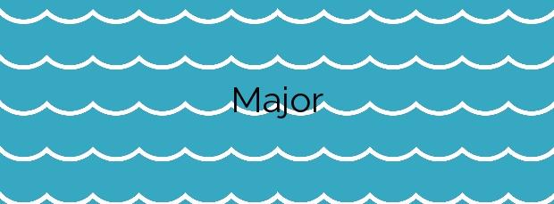 Información de la Playa Major en Sanxenxo