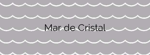 Información de la Playa Mar de Cristal en Cartagena