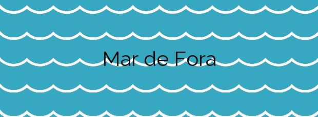 Información de la Playa Mar de Fora en Fisterra