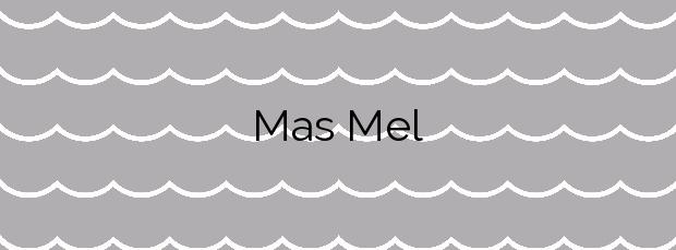 Información de la Playa Mas Mel en Calafell