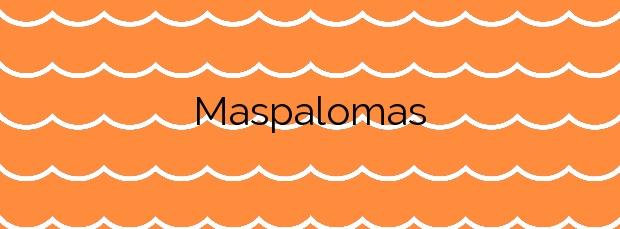 Información de la Playa Maspalomas en San Bartolomé de Tirajana