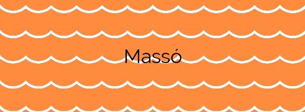 Información de la Playa Massó en Cangas