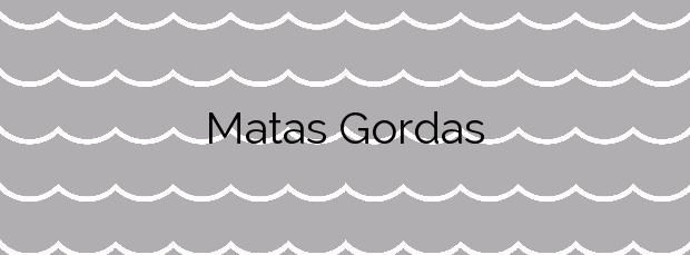 Información de la Playa Matas Gordas en San Javier