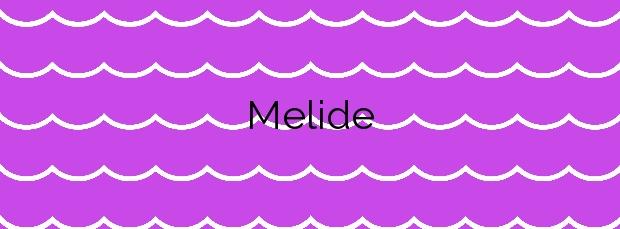 Información de la Playa Melide en Bueu