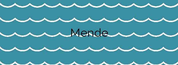 Información de la Playa Mende en Vigo