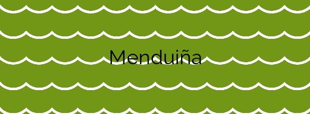 Información de la Playa Menduiña en Cangas