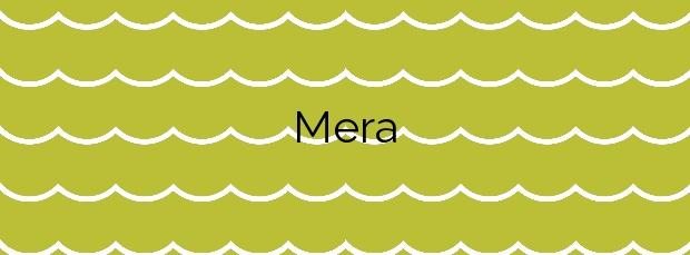 Información de la Playa Mera en Oleiros