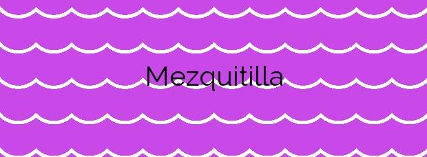 Información de la Playa Mezquitilla en Algarrobo