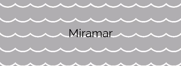 Información de la Playa Miramar en Miramar