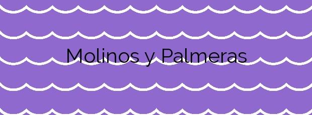 Información de la Playa Molinos y Palmeras en Dénia