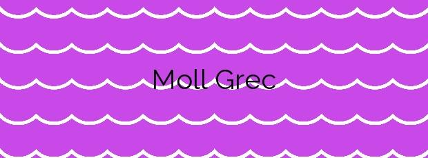Información de la Playa Moll Grec en L'Escala