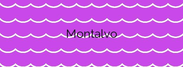 Información de la Playa Montalvo en Sanxenxo