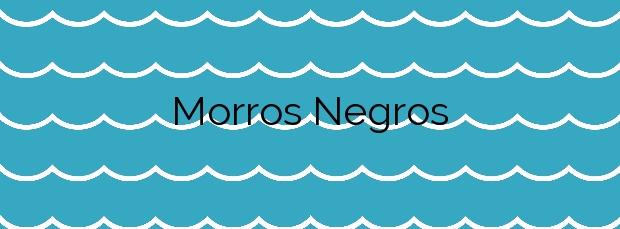 Información de la Playa Morros Negros en Teguise