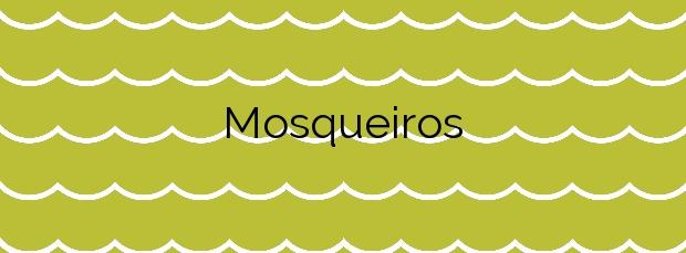 Información de la Playa Mosqueiros en Ribeira