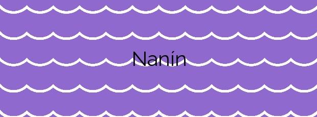 Información de la Playa Nanín en Sanxenxo