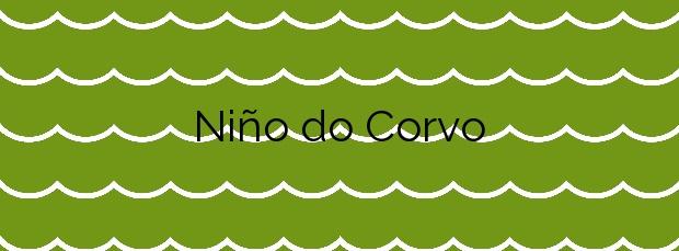 Información de la Playa Niño do Corvo en Ponteceso