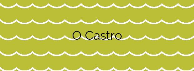 Información de la Playa O Castro en Ribeira