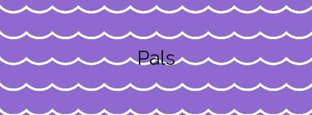 Información de la Playa Pals en Pals