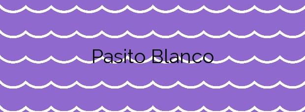 Información de la Playa Pasito Blanco en San Bartolomé de Tirajana