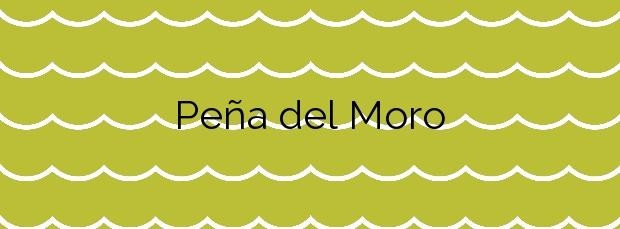 Información de la Playa Peña del Moro en El Ejido