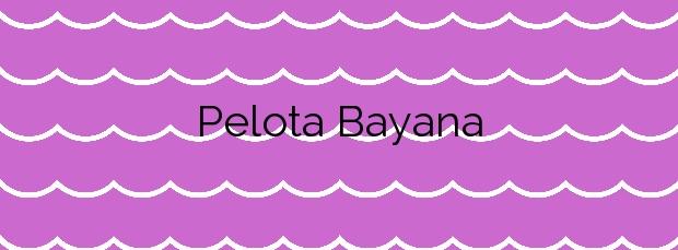 Información de la Playa Pelota Bayana en Los Llanos de Aridane