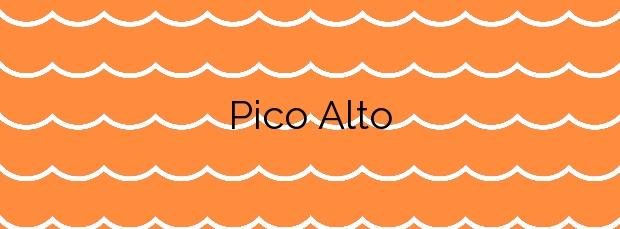Información de la Playa Pico Alto en Tinajo