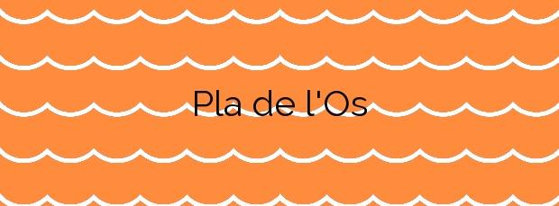 Información de la Playa Pla de l'Os en Premià de Mar