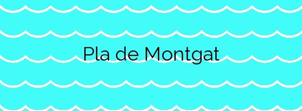 Información de la Playa Pla de Montgat en Montgat