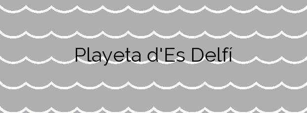 Información de la Playa Playeta d'Es Delfí en Ses Salines
