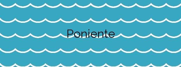 Información de la Playa Poniente en Gijón