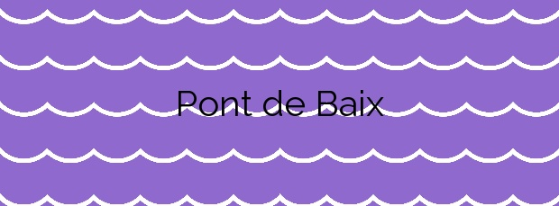 Información de la Playa Pont de Baix en Sant Josep de sa Talaia