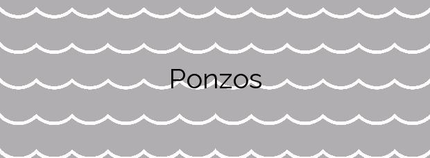 Información de la Playa Ponzos en Ferrol