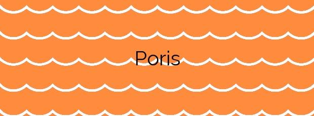 Información de la Playa Poris en Arico