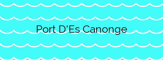 Información de la Playa Port D'Es Canonge en Banyalbufar