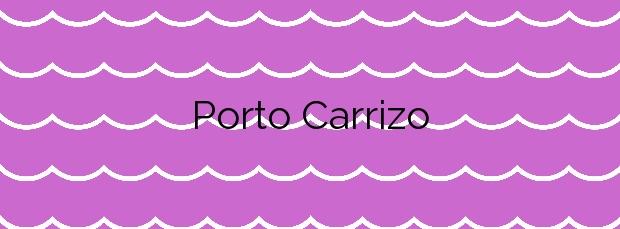 Información de la Playa Porto Carrizo en Valdoviño