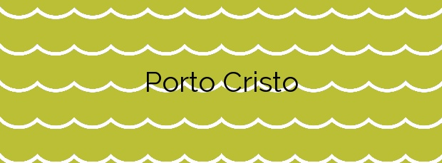 Información de la Playa Porto Cristo en Manacor