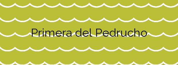 Información de la Playa Primera del Pedrucho en San Javier