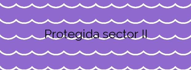 Información de la Playa Protegida sector II en El Prat de Llobregat