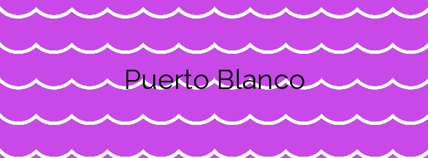 Información de la Playa Puerto Blanco en Calp