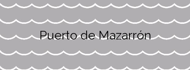 Información de la Playa Puerto de Mazarrón en Mazarrón